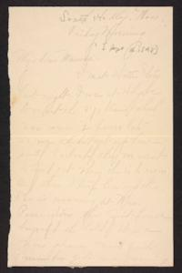 Letter from Amy Roberts Jones to Mary A. Roberts, 1898 September 16