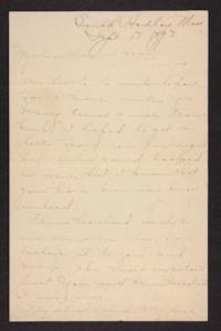 Letter from Amy Roberts Jones to her family, 1898 September 18