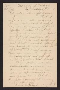 Letter from Amy Roberts Jones to her family, 1898 September 22