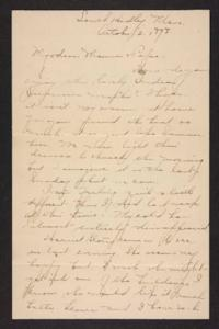 Letter from Amy Roberts Jones to Augustus H. Roberts and Mary A. Roberts, 1898 October 2