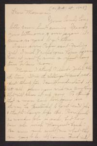 Letter from Amy Roberts Jones to Mary A. Roberts, 1898 October 4