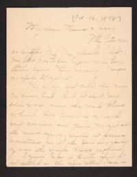Letter from Amy Roberts Jones to Augustus H. Roberts and Mary A. Roberts, 1898 October 16
