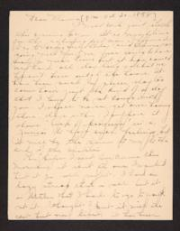Letter from Amy Roberts Jones to Mary A. Roberts, 1898 October 20