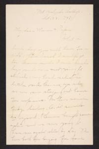 Letter from Amy Roberts Jones to Augustus H. Roberts and Mary A. Roberts, 1898 October 23