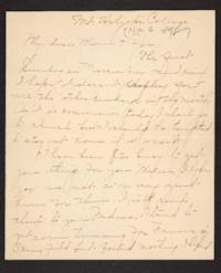 Letter from Amy Roberts Jones to Augustus H. Roberts and Mary A. Roberts, 1898 November 6