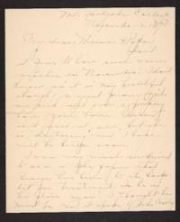 Letter from Amy Roberts Jones to Augustus H. Roberts and Mary A. Roberts, 1898 November 13