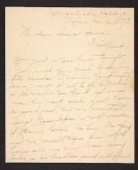 Letter from Amy Roberts Jones to her family, 1898 November 16