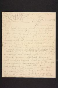 Letter from Amy Roberts Jones to Augustus H. Roberts and Mary A. Roberts, 1899 January 10