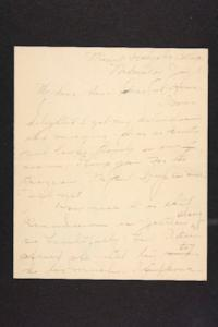 Letter from Amy Roberts Jones to Augustus H. Roberts and Mary A. Roberts, 1899 January 18