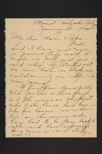 Letter from Amy Roberts Jones to Augustus H. Roberts and Mary A. Roberts, 1900 January 28
