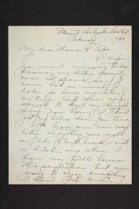 Letter from Amy Roberts Jones to Augustus H. Roberts and Mary A. Roberts, 1900 February 1
