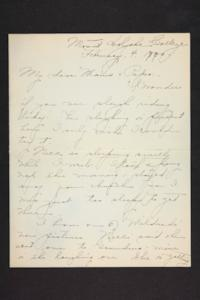 Letter from Amy Roberts Jones to Augustus H. Roberts and Mary A. Roberts, 1900 February 4