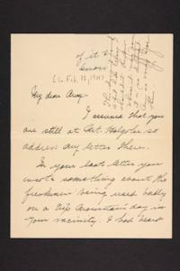 Letter from unidentified correspondent to Amy Roberts Jones, 1900 February 12