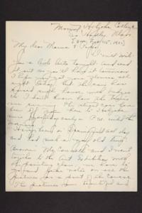 Letter from Amy Roberts Jones to Augustus H. Roberts and Mary A. Roberts, 1900 February 15
