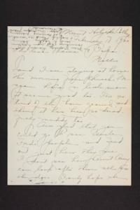 Letter from Amy Roberts Jones to Augustus H. Roberts and Mary A. Roberts, 1900 February 18