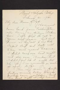 Letter from Amy Roberts Jones to Augustus H. Roberts and Mary A. Roberts, 1900 February 21
