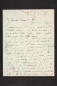 Letter from Amy Roberts Jones to Augustus H. Roberts and Mary A. Roberts, 1900 February 25