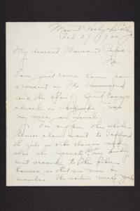 Letter from Amy Roberts Jones to Augustus H. Roberts and Mary A. Roberts, 1900 February 27