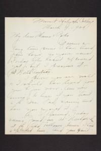Letter from Amy Roberts Jones to Augustus H. Roberts and Mary A. Roberts, 1900 March 4
