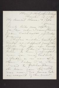 Letter from Amy Roberts Jones to Augustus H. Roberts and Mary A. Roberts, 1900 March 18
