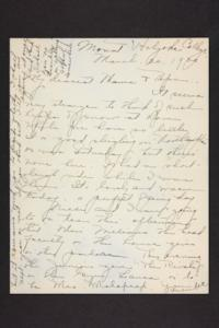 Letter from Amy Roberts Jones to Augustus H. Roberts and Mary A. Roberts, 1900 March 20