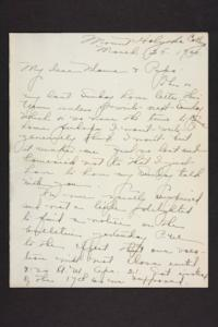 Letter from Amy Roberts Jones to Augustus H. Roberts and Mary A. Roberts, 1900 March 25