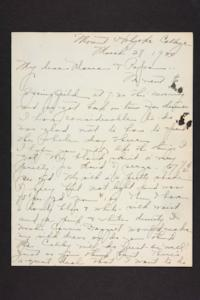 Letter from Amy Roberts Jones to Augustus H. Roberts and Mary A. Roberts, 1900 March 28