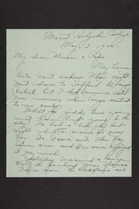 Letter from Amy Roberts Jones to Augustus H. Roberts and Mary A. Roberts, 1900 May 2