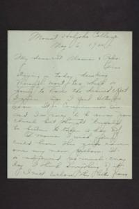 Letter from Amy Roberts Jones to Augustus H. Roberts and Mary A. Roberts, 1900 May 6