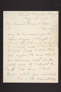 Letter from Amy Roberts Jones to Augustus H. Roberts and Mary A. Roberts, 1900 May 10