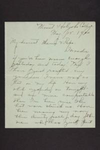 Letter from Amy Roberts Jones to Augustus H. Roberts and Mary A. Roberts, 1900 May 13