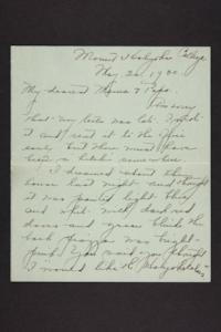 Letter from Amy Roberts Jones to Augustus H. Roberts and Mary A. Roberts, 1900 May 15