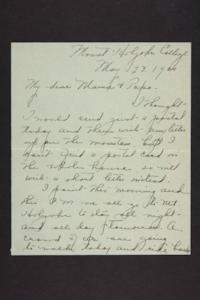 Letter from Amy Roberts Jones to Augustus H. Roberts and Mary A. Roberts, 1900 May 20