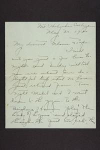 Letter from Amy Roberts Jones to Augustus H. Roberts and Mary A. Roberts, 1900 May 27