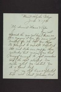 Letter from Amy Roberts Jones to Augustus H. Roberts and Mary A. Roberts, 1900 June 4