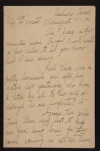 Letter from Florence Polk Holding to Lucy Polk, 1896 October 7