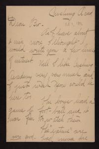 Letter from Florence Polk Holding to her brother, 1896 October 7