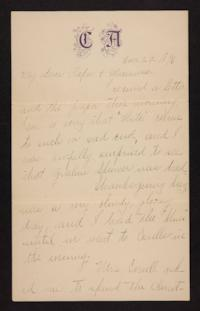 Letter from Florence Polk Holding to William Polk and Lucy Polk