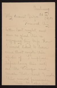 Letter from Florence Polk Holding to William Polk, 1897 October 20