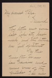 Letter from Florence Polk Holding to William Polk, 1897 November 1