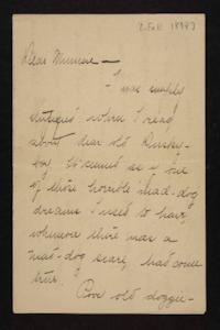 Letter from Florence Polk Holding to Lucy Polk, circa 1898