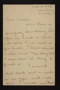 Letter from Florence Polk Holding to Lucy Polk, 1898 October 6
