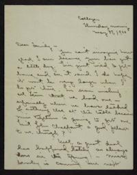 Letter from Florence Polk Holding to her family, 1900 May 17