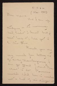 Letter from Florence Polk Holding to Lucy Polk, November 1901