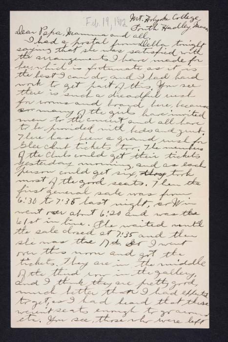 Letter from Edna L. Ferry to Charles A. Ferry and Rosella E. Ferry, 1902 February 19