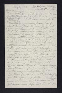 Letter from Edna L. Ferry to Rosella E. Ferry, 1903 May 3