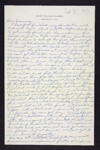 Letter from Edna L. Ferry to Rosella E. Ferry, 1903 September 20