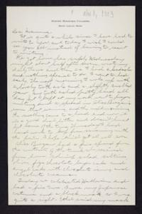 Letter from Edna L. Ferry to Rosella E. Ferry, 1903 November 1