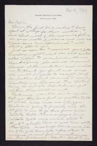 Letter from Edna L. Ferry to Charles A. Ferry, 1903 November 4