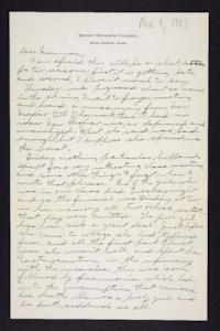 Letter from Edna L. Ferry to Rosella E. Ferry, 1903 November 9